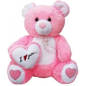 I love U Teddy With Heart - 60Cm - Pink