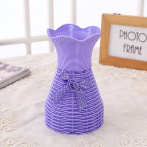 Plastic Purple Vase for home Decor (1 Piece)