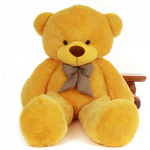 80Cm Brown Teddy With Tie - 3ft