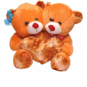 CoupleTeddy With Heart 30CM - Brown