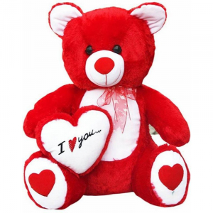 I love U Teddy With Heart - 60Cm - Red