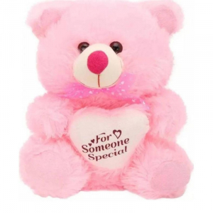40Cm Teddy With Heart