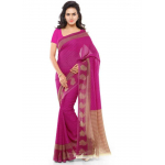 Printed Faux Georgette Pink Color Saree