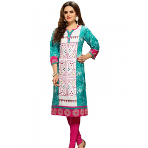 Long Kurti With Embroidery Print