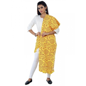 Cotton Printed Solid Dupatta