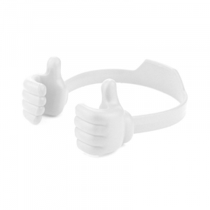 Flexible Multi-Angle Hand Model Mobile Stand_White