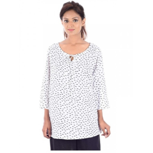 Rayon Staple Round Neck Medium Top