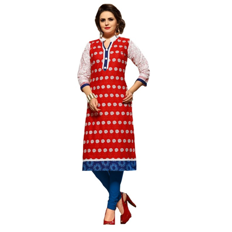 Long Kurti With Print Work