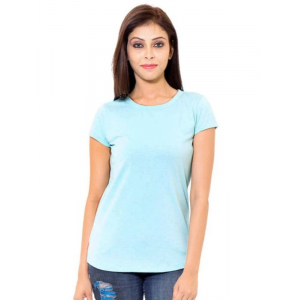 Generic Womens Cotton Western Sleeve Top (Sky Blue, S)