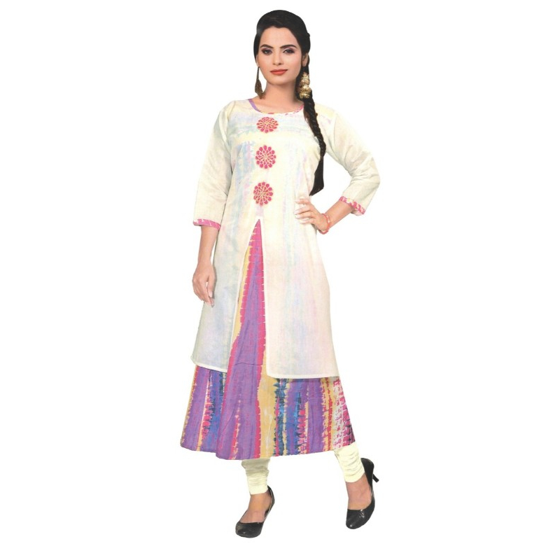 Printed Layered Women's Kurti