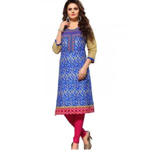 Long Kurti With Thread & Print Work