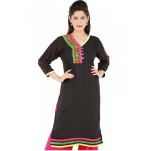 Rayon Straight Embroidery Kurti