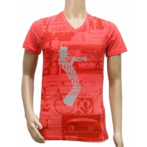 Generic Mens  cotton Printed Men Tshirts (Red, XS)