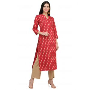 Red Color Cotton Kurti