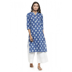 Blue Color Cambric Kurti