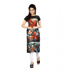 Black And Blue Color Crepe Kurti