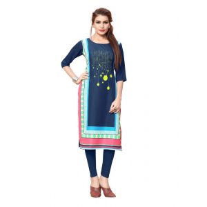 Navy Blue Color Crepe Kurti