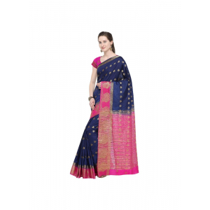 Multi-Coloured Color Silk  Saree with Blouse