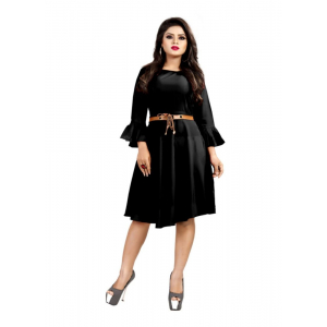 Black Color American Crepe Western Dress