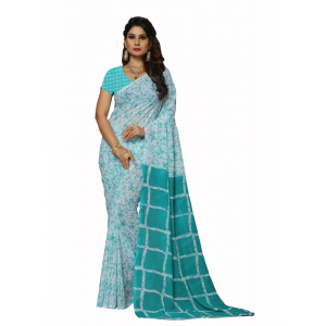 Multi-Coloured Color Faux Georgette  Saree