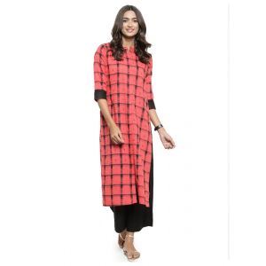 Light Red Color Cambric Kurti