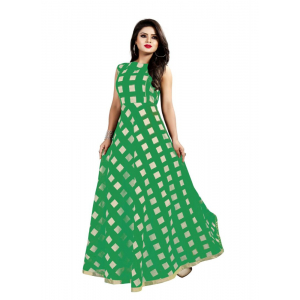Green Color American Crepe Kurti