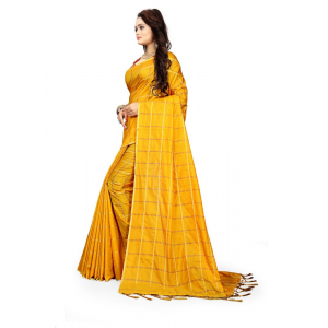 Mustrud Color Sana Checks  Saree