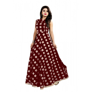 Chocolate Color American Crepe Kurti