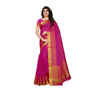 Magenta Color Manipuri Cotton  Saree