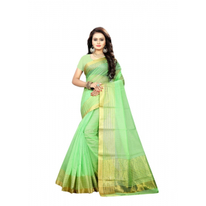 Green Color Manipuri Cotton  Saree