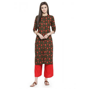 Rae Green Color Rayon Kurti