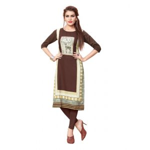 Brown Color Crepe Kurti