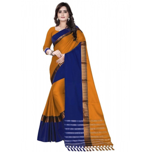 Multi-Coloured Color Cottn Silk  Saree