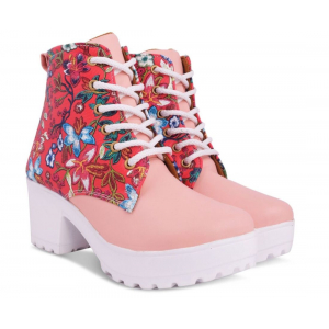 Women Party Wear Boots Lace Up Shoes