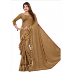 Peach Color Lycra Saree with Blouse