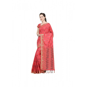 Peach Color Silk Saree with Blouse