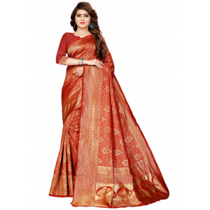 Maroon Color Jaqaurd  Saree