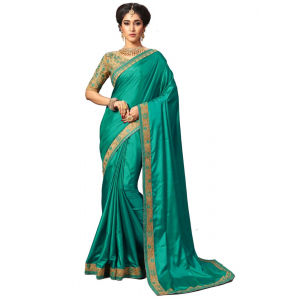 Green Color Silk Saree with Blouse