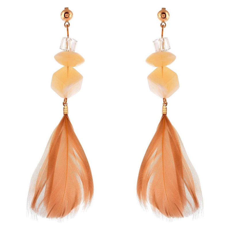 Generic Women's Brass Earrings (Beige, free Size)