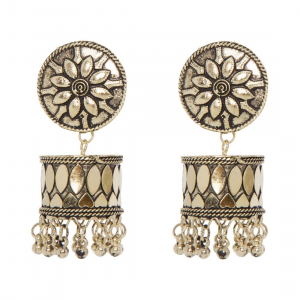 Generic Women's Brass Earrings (Golden, free Size)