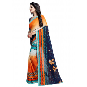 Generic Women's Georgette Saree(Multi, 5.5-6mtrs)