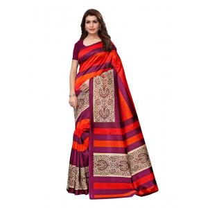 Generic Women's Silk Saree(Red, 5.5-6mtrs)