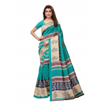 Generic Women's Art Silk Saree (Green, 5.5-6mtrs)