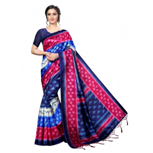 Generic Women's Banarasi art silk Saree (Multi, 5.5-6mtrs)