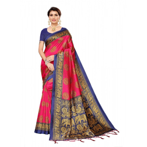 Generic Women's Art silk Saree (Pink, 5.5-6mtrs)