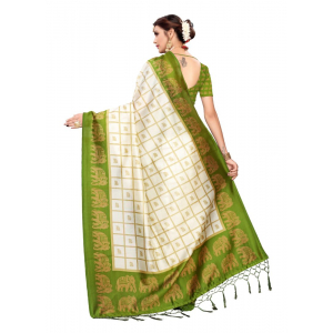 Generic Women's Art silk With Tassels Saree (Multicolor, 5.5-6mtrs)