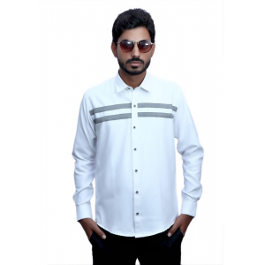 Generic Men's 100% Cotton Men Shirt (White)