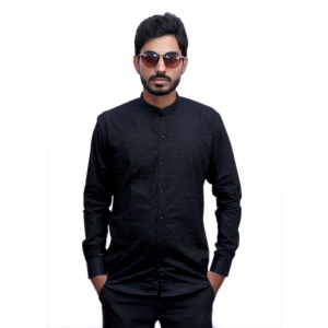 Generic Men's 100% Cotton Men Shirt (Black)