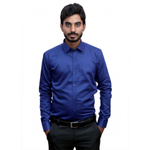 Generic Men's 100% Cotton Men Shirt (Blue)