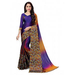 Generic Women's Handloom Cotton Soft Silk Saree (Purple, 5.5-6mtrs)